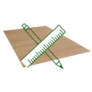 Bambusteppich-Wunschmass