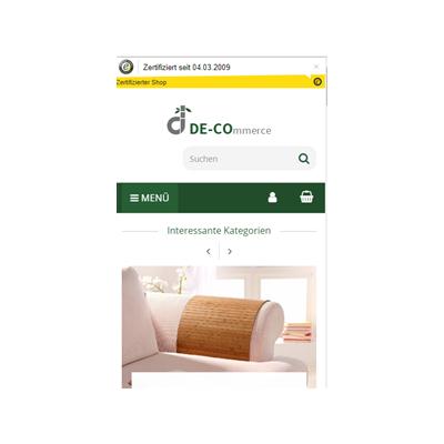 Neuer Shop ist Online - DE-COmmerce setzt das neue Template von Salepix ein