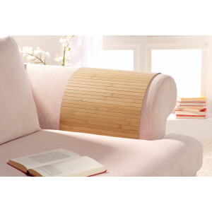 Lehnenschoner aus massiven Bambus Sofatablett Tablett Ablage Armlehne Sofa Couch nature 50 cm x 70 cm