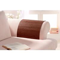 Lehnenschoner aus massiven Bambus Sofatablett Tablett Ablage Armlehne Sofa Couch mocha 40 cm x 60 cm