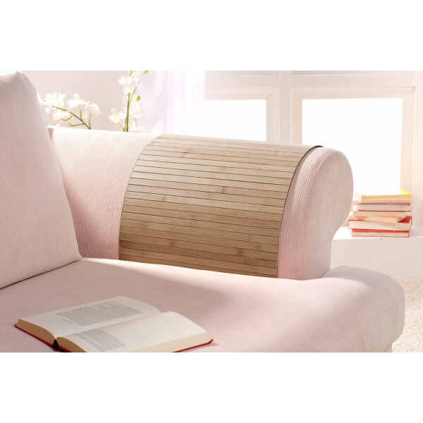 Lehnenschoner aus massiven Bambus Sofatablett Tablett Ablage Armlehne Sofa Couch timber 40 cm x 60 cm