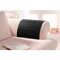 Lehnenschoner aus massiven Bambus Sofatablett Tablett Ablage Armlehne Sofa Couch ebony 20 cm x 40 cm