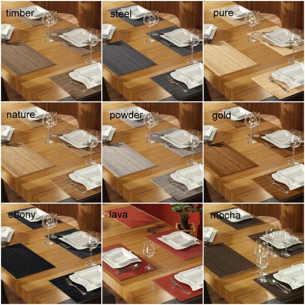 Tischset aus Bambus 4-er Set