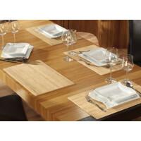 Tischset aus Bambus, Platzmatte/Untersetzer abwaschbar, Tischläufer - in 9Farben Tischsets 4 St. a 30x45 cm pure