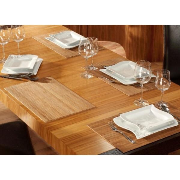 Tischset aus Bambus, Platzmatte/Untersetzer abwaschbar, Tischläufer - in 9Farben Tischsets 4 St. a 30x45 cm nature