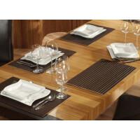 Tischset aus Bambus, Platzmatte/Untersetzer abwaschbar, Tischläufer - in 9Farben Tischsets 4 St. a 30x45 cm mocha