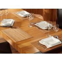 Tischset aus Bambus, Platzmatte/Untersetzer abwaschbar, Tischläufer - in 9Farben Tischsets 6 St. a 30x45 cm nature
