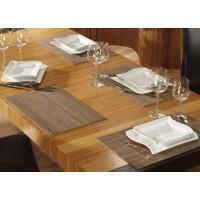 Tischset aus Bambus, Platzmatte/Untersetzer abwaschbar, Tischläufer - in 9Farben Tischsets 8 St. a 30x45 cm timber