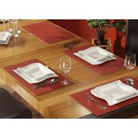 Tischset aus Bambus, Platzmatte/Untersetzer abwaschbar, Tischläufer - in 9Farben Tischsets 8 St. a 30x45 cm lava