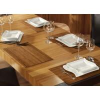 Tischset aus Bambus, Platzmatte/Untersetzer abwaschbar, Tischläufer - in 9Farben Tischsets 8 St. a 30x45 cm gold
