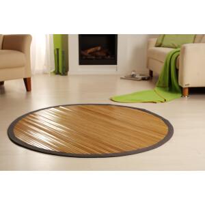 Bambusteppich CIRCLE Teppich Bambusmatte Küchenteppich, in 5 Größen! Rund 125 cm