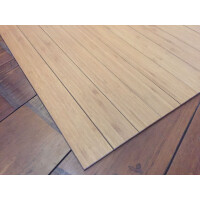 Bambusteppich STRIPES, Bambus Teppich Wohnzimmerteppich Nature, in 15 Größen