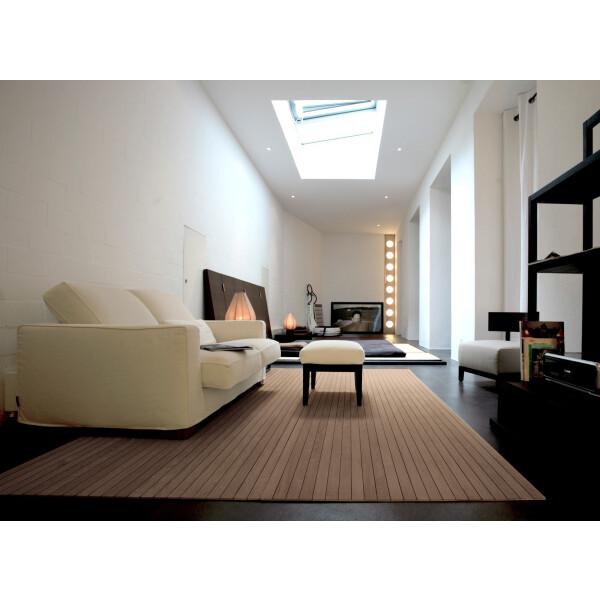 Bambusteppich STRIPES, Bambus Teppich Wohnzimmerteppich Nature, in 15 Größen 140 x 200 cm