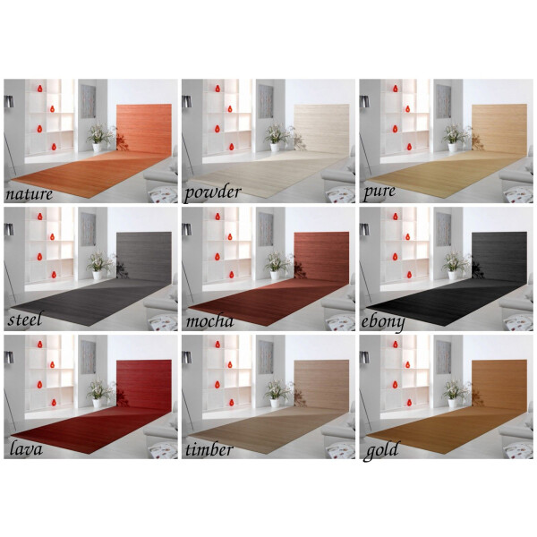 Bambusteppich Wandteppich DUO - in 20 Größen und 9 Farben!