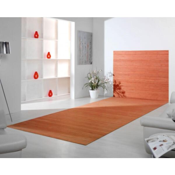Bambusteppich Wandteppich DUO - Farbe:nature 60 cm x 200 cm