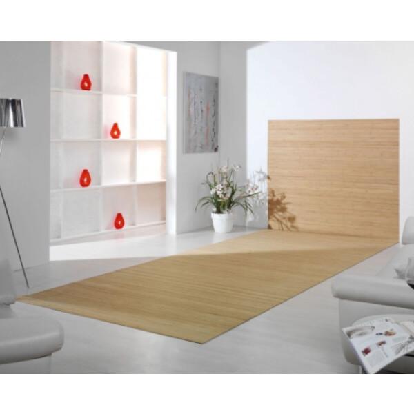 Bambusteppich Wandteppich DUO - Farbe:pure 60 cm x 200 cm