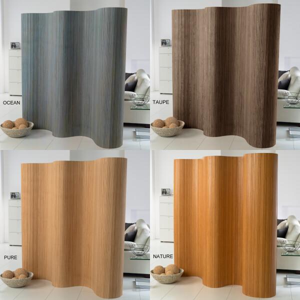 Doppelseitiger Bambus Paravent (BxH) 244 cm x 185 cm l Raumteiler l Trennwand l Faltwand l Shoji l Sichtschutz