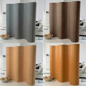 Doppelseitiger Bambus Paravent (BxH) 244 cm x 185 cm l...