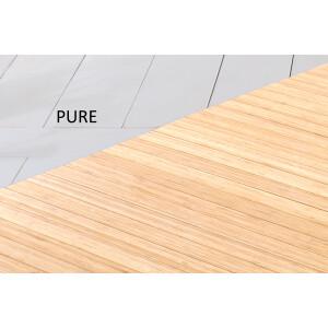 Bambusteppich SOLID pure, Maß ca. 50x80 cm, 50mm Stege auf Gazevliesrücken