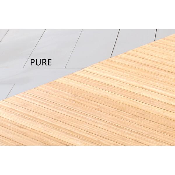 Bambusteppich SOLID pure, Maß ca. 100x160 cm, 50mm Stege auf Gazevliesrücken