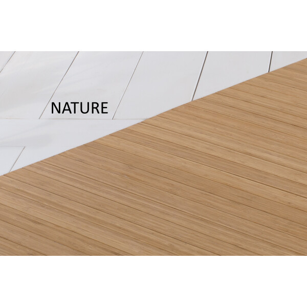 Bambusteppich SOLID nature, Maß ca. 70x140 cm, 50mm Stege auf Gazevliesrücken