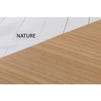 Bambusteppich SOLID nature, Maß ca. 75x150 cm, 50mm Stege auf Gazevliesrücken