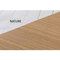 Bambusteppich SOLID nature, Maß ca. 75x200 cm, 50mm Stege auf Gazevliesrücken