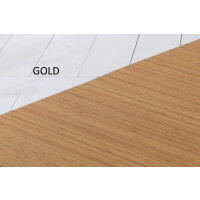 Bambusteppich SOLID gold, Maß ca. 60x90 cm, 50mm Stege auf Gazevliesrücken