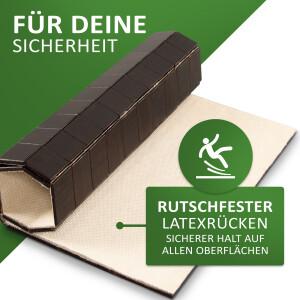 Rutschfester Badteppich aus Bambus, KARO Farbe ebony 40 x 50 cm