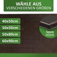 Rutschfester Badteppich aus Bambus, KARO Farbe ebony 50 x 80 cm
