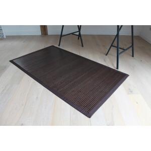 Bambusteppich COFFEE  mit XXL Bordüre 140 x 200 cm