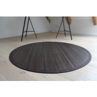 Bambusteppich COFFEE  mit XXL Bordüre 90 cm