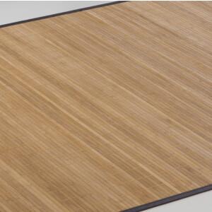 Bambusteppich Honey 11mm Stege mit schmaler Bordüre 90 x 160 cm