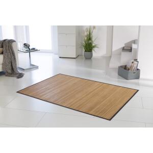 Bambusteppich Honey 11mm Stege mit schmaler Bordüre 140 x 200 cm