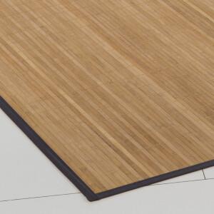 Bambusteppich Honey 11mm Stege mit schmaler Bordüre 200 x 250 cm