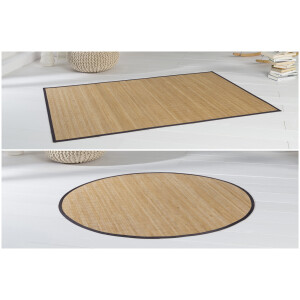 Bambusteppich HighQ 11mm Stege mit schmaler Bordüre 90 x 160 cm