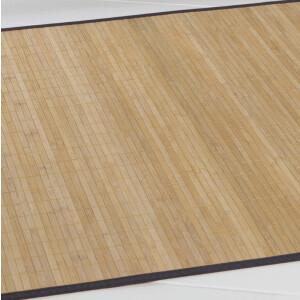 Bambusteppich HighQ 11mm Stege mit schmaler Bordüre 160 x 230 cm