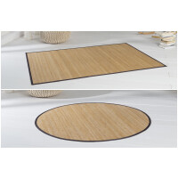Bambusteppich HighQ 11mm Stege mit schmaler Bordüre 200 x 250 cm