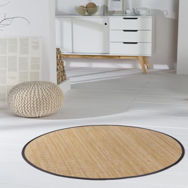 Bambusteppich HighQ 11mm Stege mit schmaler Bordüre 160 cm