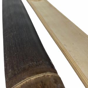 Abdecklatte Nigra Bambus opt. Zwischenraumabdichtung der Bambuszaun Serien