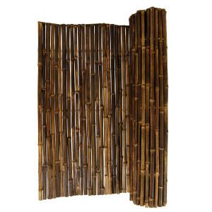 Robuster Bambus Holz Sicht Schutz Zaun BLACK von...