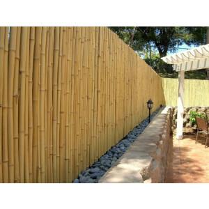 Hochwertiger Garten Zaun Sichtschutz Bambus ATY NATURE von DE-COmmerce® I Garten, Terrasse, Balkon Sichtschutz Bambus mit geschlossenen Rohren I Windschutz Bambus (HxB) 200 cm x 180 cm