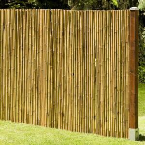 Robuster Bambus Holz Sicht Schutz Zaun DELUXE von...