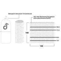 Robuster Bambus Holz Sicht Schutz Zaun DELUXE von DE-COmmerce® I hochwertiger Windschutz Terrasse, Balkon, Garten I Bambusrohr Zaun mit geschlossenen Rohren (HxB) 180 x 180 cm