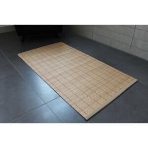 Kopie von Rutschfeste Badematte, Badteppich WC, Vorleger aus Bambus, TAN  in  50 cm x 90 cm