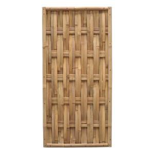 Der gewebte Bambuszaun WAVE Nature (HxB) 90 x 180 cm