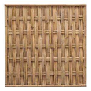 Der gewebte Bambuszaun WAVE Nature (HxB) 180 x 180 cm