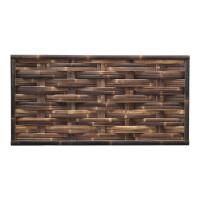 Der gewebte Bambuszaun WAVE Nigra (HxB) 90 x 180 cm