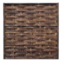 Der gewebte Bambuszaun WAVE Nigra (HxB) 180 x 180 cm