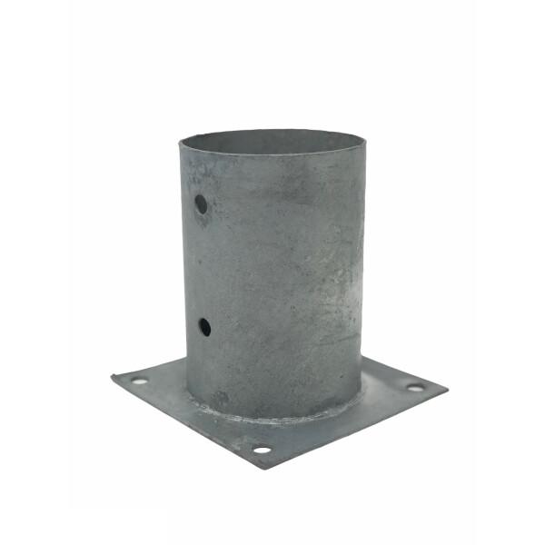 Aufschraubhülse (Ø 101mm) 101 x 150 mm  feuerverzinkter Stahl
